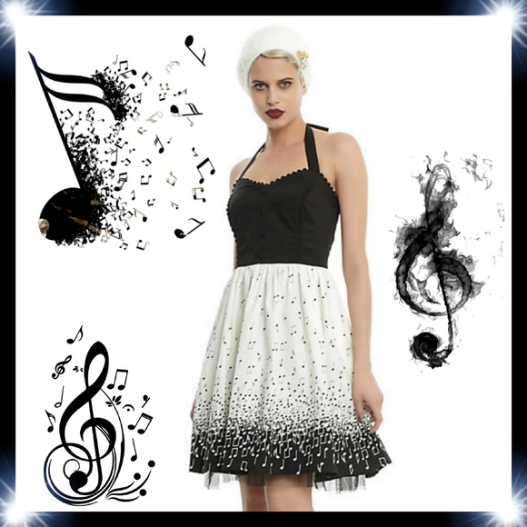 f56992fec649 Hot Topic Dresses | Music Note Halter Dress | Poshmark